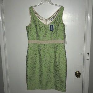 Maggie London lime green dress